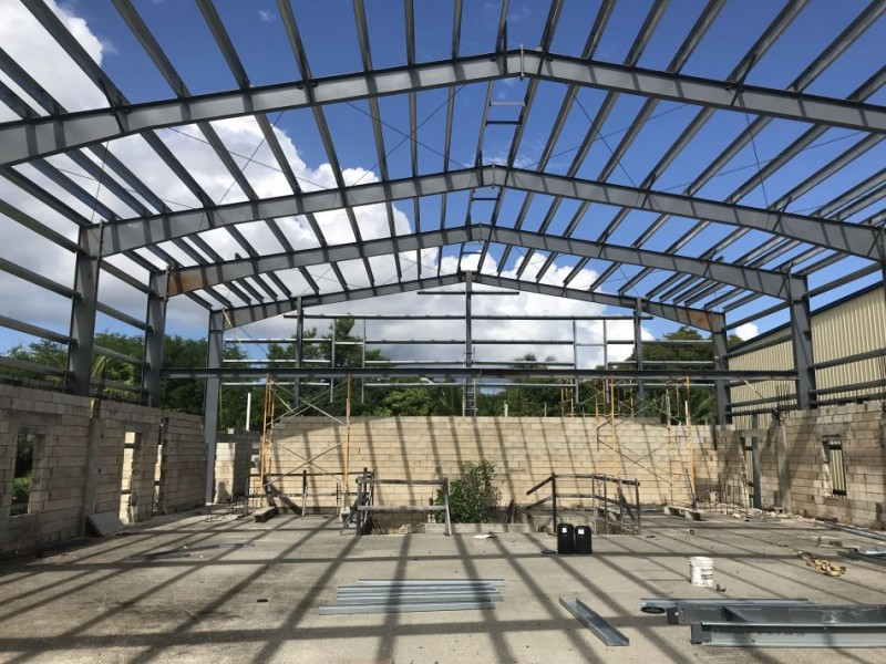 Structural Steel Erection - Light of the World Church (Oct. 2018)